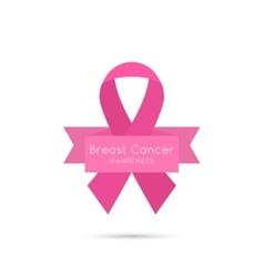 Breast Cancer Awareness Ribbon vector image vector image