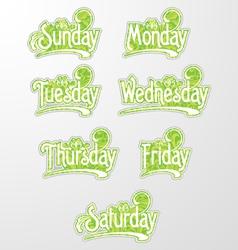 Decorative Text Days vector image