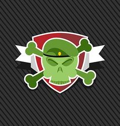 Emblem Army Skull on shield vector image vector image