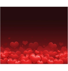 red valentines day background vector image vector image