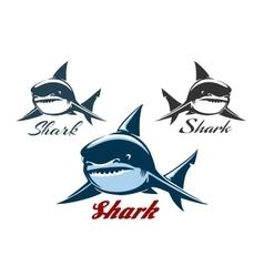 Shark Emblem Set vector image vector image