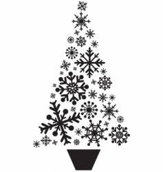 snow flake tree vector image