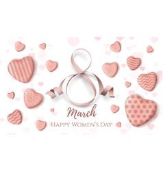 8 march international womens day card vector image