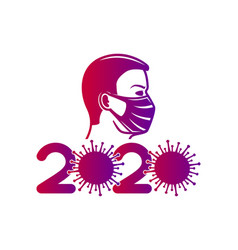 A man in medical mask vector