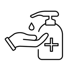 A simple linear icon for protecting your hands vector