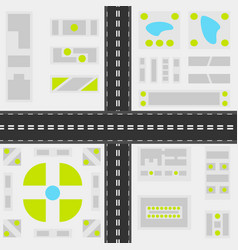 Abstract city map top view background vector