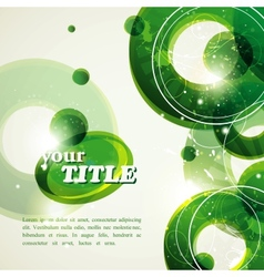 Abstract green background with bubbles and vector