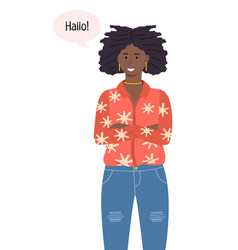 african american young woman vector image