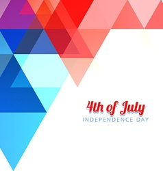 American 4th of july background vector