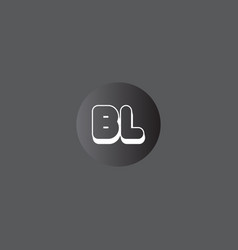 B l joint letter logo abstract design vector