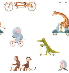 Beautiful seamless pattern for children vector