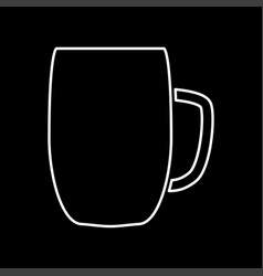 beer mug it is icon vector image