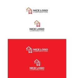 Bookmark house logo vector