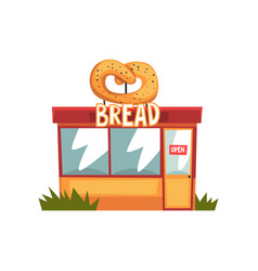bread shop building facade with signboar vector image