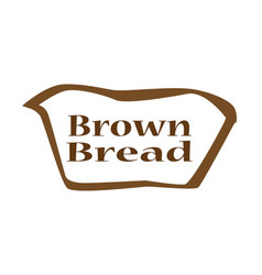 Brown bread outline shape vector