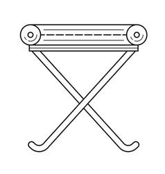 Camp-chair line icon vector
