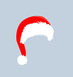 christmas hats icon santa claus costume vector image