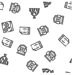 Coding system seamless pattern vector