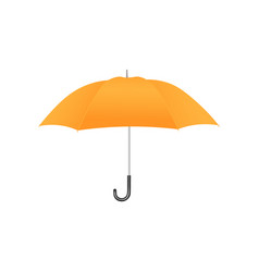 colorful realistic yellow umbrella with domed top vector image