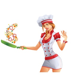 Cute Cook vector image vector image