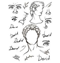 David s head period renaissance vector