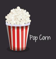 delicious pop corn fast food vector image