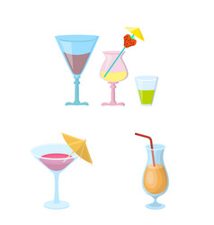 design of cocktail and menu icon vector image