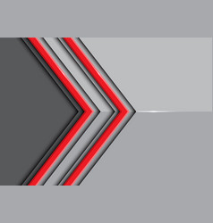 Double red line arrow on gray glossy vector