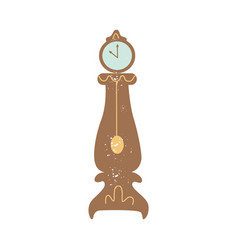 elegant antique wooden outdoor clocks flat cartoon vector image