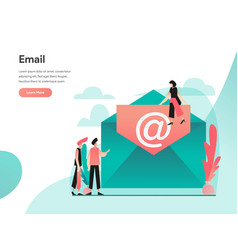 email concept modern flat design concept web vector image