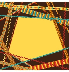 Ethnic abstract geometric background from vector