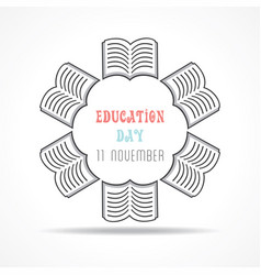 for education day greeting vector image