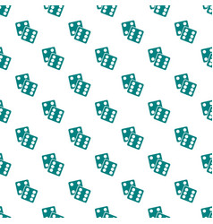 Gambling dices seamless pattern on white vector