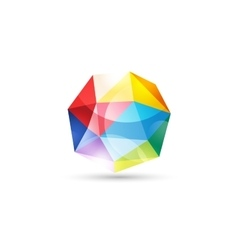 globe abstract logo template Tetrahedron vector image