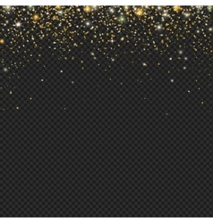 Gold snow glitter particles confetti vector