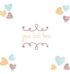 HeartAndFlowers3 vector image