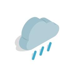 Heavy rain icon isometric 3d style vector