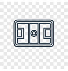 Hockey mask concept linear icon isolated on vector