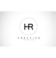 Hr h r logo design with black and white creative vector