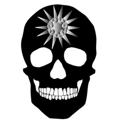 human skull geometry and design vector image