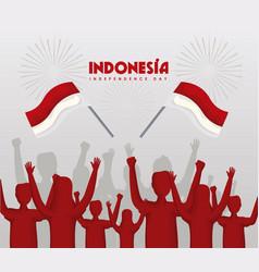 Indonesia independence celebration vector