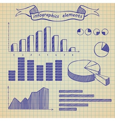 Infographics elements sketch vector