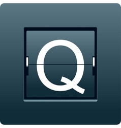 Letter Q from mechanical scoreboard vector