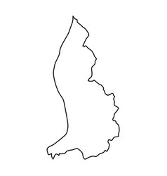 Liechtenstein map of black contour curves on vector