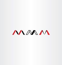 logo letter m set red black icon vector image