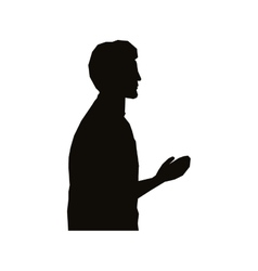 Man profile icon image vector
