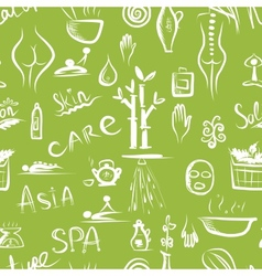 Massage and spa concept seamless pattern for your vector image