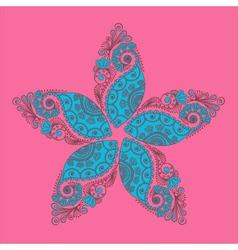 Mendi flower vector image