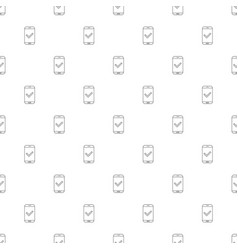 mobile approve background from line icon vector image