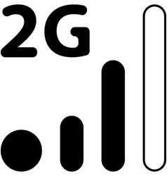 Mobile smart phone 2g network icon vector